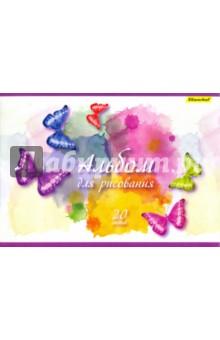 """Альбом для рисования """"Бабочки"""" (20 листов, А4, в ассортименте) (911143-54)"""