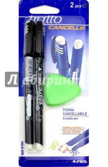 Набор Tratto Cancellik Пиши-стирай. Шариковые ручки, 2 штуки + ластик. Черный (41703) ручки fila tratto cancellik шариковая ручка пиши стирай черная 2 шт в блистере ластик