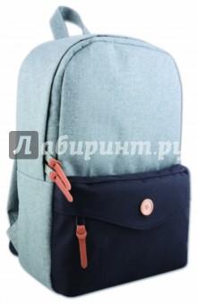 Купить Рюкзак молодежный Серый+черный (40402), Феникс+, Рюкзаки школьные