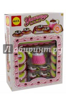 Чайный сервиз Ямми (металлический) (703W) ролевые игры 1 toy я сама чайный сервиз 14 предметов