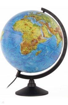 Глобус Земли физико-политический рельефный (с подсветкой, d 320 мм) (К013200223)
