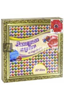 Мозаика алмазная Мак (30х30 см) (13454) набор для творчества алмазная мозаика анютины глазки 30 см х 30 см