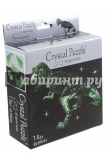 3D головоломка Динозавр T-REX зеленый (90334) кристальный пазл 3d crystal puzzle динозавр t rex