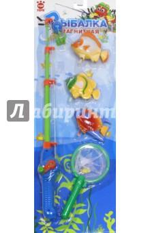 Игра-рыбалка магнитная с заводными рыбками. Удочка + сачок (GT8913) игрушки для ванны tolo toys рыбалка магнитная
