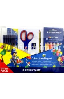 Набор для рисования: фломастеры, цв. карандаши, ножницы, точилка, ластик, карандаш черн. (61TCPL5) от Лабиринт