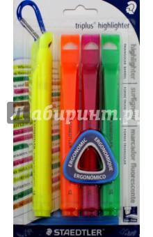 Набор текстовыделительных маркеров Triplus highlighter, 4 шт. 2-5 мм. (3654-SBK4) staedtler набор текстовыделителей triplus highlighter 4 цвета