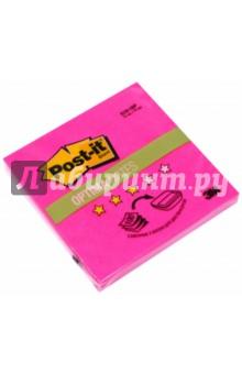 Блок самоклеящийся розовый неон (76х76 мм, 100 листов) (R330-ONP) блокнот с клеевым краем 76х76 мм 100 листов желтый 124116 r 330