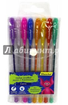 Набор гелевых ручек Джинсовая коллекция, 8 цветов, с блестками (016092-08) набор гелевых ручек silwerhof джинсовая коллекция с блестками 8 шт