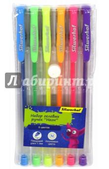 Набор гелевых ручек Джинсовая коллекция. Неон (6 цветов) (016093-06) набор гелевых ручек для tatу 6 гел ручек трафарет