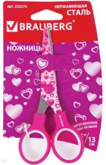 Ножницы Сердечки, 130 мм. (232275) ножницы смайлики 130 мм 232274