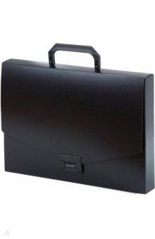 Пластиковый портфель без отделений. А4. Черный (221202) портфель office point exclusive пластиковый картотека на 12 отделений