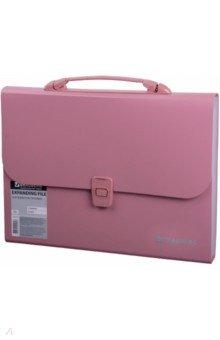 Портфель пластиковый, 13 отделений, А4. Розовый(221441) портфель office point exclusive пластиковый картотека на 12 отделений