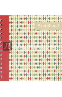 Альбом для эскизов Ромбы. 80 листов. На спирали (43133) феникс альбом для эскизов зигзаги 80 листов