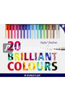 Набор капиллярных ручек Triplus 334 (20 цветов) (334C20) staedtler набор капиллярных ручек triplus 334 15 цветов