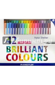 Набор капиллярных ручек Triplus 334 (42 цвета) (334C42) staedtler набор капиллярных ручек triplus 3 цвета