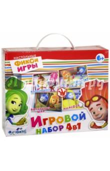 Фиксики. Игровой набор 4 в 1 (02640) наборы карточек шпаргалки для мамы набор карточек детские розыгрыши