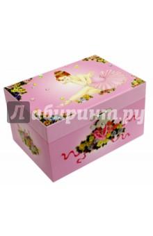 Шкатулка музыкальная Сидящая балерина (50000(509040) музыкальная шкатулка jakos балерина цвет бежевый розовый