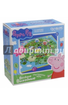 Peppa Pig. Настольная игра + пазл Весёлые выходные (01584) пазл origami 01569 peppa pig 24эл