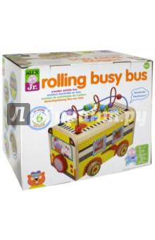 Развивающий деревянный центр Веселый автобус (1997) спот ★ импортированные голубой автобус автобус автобус автомобиль тайо игрушка тянуть обратно автомобиль корея продукты