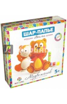 Купить Набор для детского творчества Медвежонок из шар-папье (B01671), ШАР, Раскрашиваем и декорируем объемные фигуры