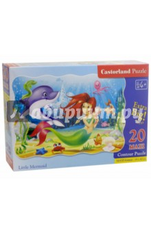 Puzzle-20 MAXI Русалочка (С-02290) пазлы crystal puzzle 3d головоломка вулкан 40 деталей