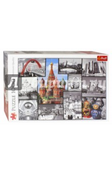 Puzzle-1000 Москва - коллаж (10380) пазлы crystal puzzle 3d головоломка вулкан 40 деталей