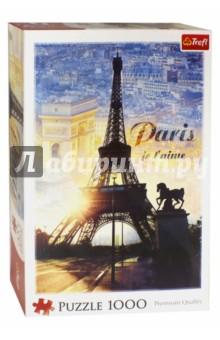 Puzzle-1000 Париж на рассвете - коллаж (10394) trefl пазл москва коллаж