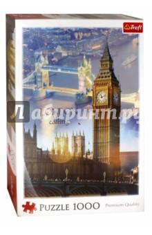 Puzzle-1000 Лондон на рассвете - коллаж (10395) trefl пазл москва коллаж