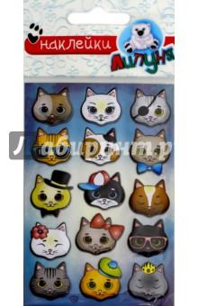 Купить Яркие наклейки Кошки 2 (WPS03), Липуня, Наклейки детские