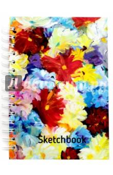 Скетчбук Цветы (100 листов, А5) (01160) делай 100 листов а5