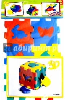 Конструктор-кубик из пенопролиэтилена. Ассорти (45401) книги издательство робинс книжный конструктор развивающий кубик
