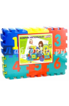 Купить Мягкий конструктор-коврик с цифрами (45444), Тедико, Конструкторы из пластмассы и мягкого пластика