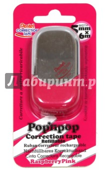 Лента корректирующая Pop'N Pop (6мх5мм, розовая) (ZTF5-P) tukzar корректирующая лента retype