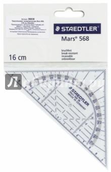 Геометрический треугольник Mars 568 (16 см) (56838) циркуль mars basic 554 максимальный диаметр 36 см длина 146 мм 554т11