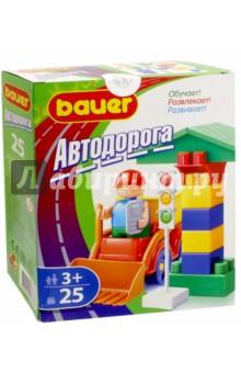 Конструктор Автодорога, 25 элементов (363) конструкторы bauer стройка 50 элементов