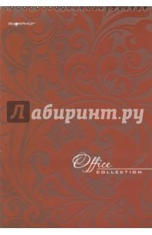 Бизнес-блокнот Бордовый, 60 листов на спирали, А4 (732061-54)