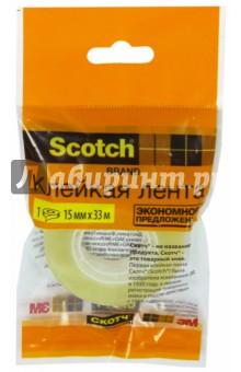 Клейкая лента прозрачная (15мм х33 м) (225940) Scotch