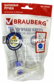 Ручка шариковая настольная N2 (на пружинке) (141888) Brauberg