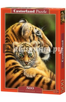 Купить Puzzle-500 Тигры (B-52448), Castorland, Пазлы (400-600 элементов)