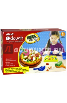 Тесто для лепки (5 цветов, с аксессуарами) (32800) skwooshi набор для лепки с аксессуарами бургер