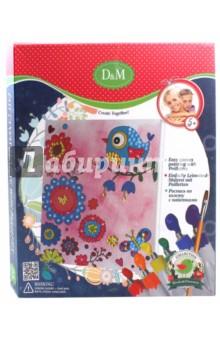 Купить Роспись по холсту с пайетками Цветы и Птицы (60763), D&M, Роспись по ткани