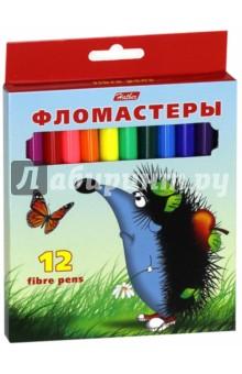 """Фломастеры """"Ёжики"""" (12 цветов) (BFk_12300)"""