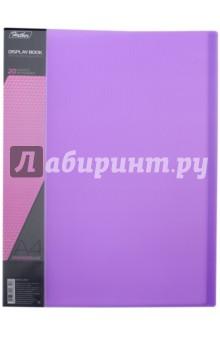Папка с вкладышами, пластиковая, 20 вкладышей NEON DISPLAY BOOK, фиолетовая (20AV4_02021)