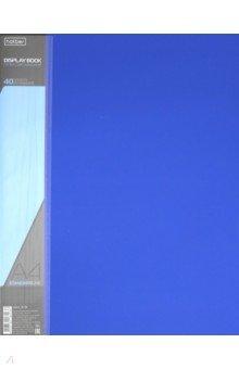 Папка с вкладышами, пластиковая, 40 вкладышей STANDARDLlINE DISPLAY BOOK, синяя (40AV4_00109) папка 40 вкладышей горизонтальные линии желтая 221780