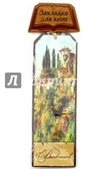 Закладка декоративная для книг Итальянский городок (43570) закладка для книг колокольчик