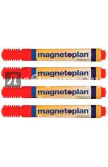 Маркеры универсальные: для досок и бумаги, 4 шт. Красные (1228106) Magnetoplan