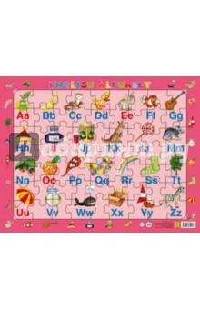 Алфавит английский. Детский пазл на подложке (63 элемента)