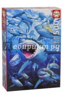 Пазл-500 Стая акул educa пазл пекарня