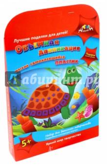 Аппликация из мягкого самоклеящегося пластика Черепашка (С2410-05) наборы для творчества апплика аппликация принцесса из самоклеящегося мягкого пластика