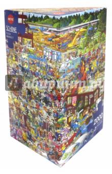 Пазл Блошиный рынок, 2000 деталей + постер (29796) авто рынок в костанае дизель